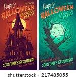 halloween poster   card  ... | Shutterstock .eps vector #217485055