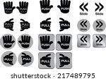 signest hand shape with push  ... | Shutterstock .eps vector #217489795