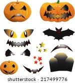 colorful halloween illustration ... | Shutterstock . vector #217499776