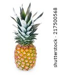ripe pineapple isolated on... | Shutterstock . vector #217500568