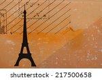 greetings from paris   Shutterstock . vector #217500658