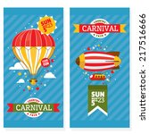 country fair vintage invitation ... | Shutterstock .eps vector #217516666