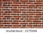 Dark red brick wall - stock photo