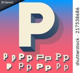 vector alphabet of simple and... | Shutterstock .eps vector #217538686