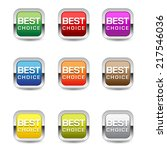 best choice glossy shiny square ... | Shutterstock .eps vector #217546036