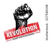 Rebel Strike Hand Grunge Vecto...