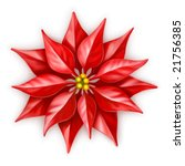 vector poinsettia  christmas... | Shutterstock .eps vector #21756385