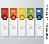 design clean number banners... | Shutterstock .eps vector #217564072