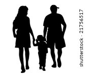 vector of happy family walking...   Shutterstock .eps vector #21756517