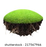 Island Of Grass And Turf On A...