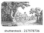 old village | Shutterstock . vector #217578736