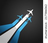 vector illustration of a plane... | Shutterstock .eps vector #217586062