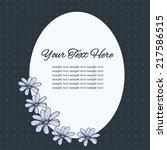 vintage postcard with flower....   Shutterstock .eps vector #217586515