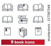book icons  vector set | Shutterstock .eps vector #217587568