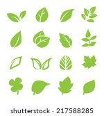 Stock vector leaf icon 217588285