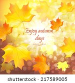 autumn background design with... | Shutterstock .eps vector #217589005