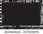 grunge frame. vector... | Shutterstock .eps vector #217603696