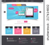 website template for smart... | Shutterstock .eps vector #217614832