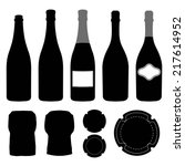 complete set of champagne.... | Shutterstock .eps vector #217614952