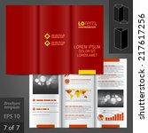 red classic vector brochure... | Shutterstock .eps vector #217617256