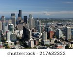 the skyline of seattle... | Shutterstock . vector #217632322