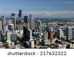the skyline of seattle... | Shutterstock . vector #217632322