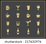 drinks and beverages icon set.... | Shutterstock .eps vector #217632976