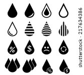 water drop icons | Shutterstock .eps vector #217634386