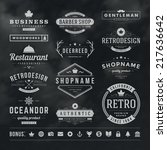 retro vintage insignias or... | Shutterstock .eps vector #217636642