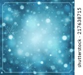 christmas snowflakes and light... | Shutterstock .eps vector #217638715