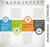 customizable infographic vector ... | Shutterstock .eps vector #217643146