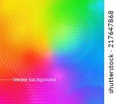 rainbow vector background with... | Shutterstock .eps vector #217647868
