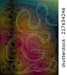 vector illustration of neon...   Shutterstock .eps vector #217654246
