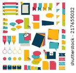 collections of infographics... | Shutterstock .eps vector #217655032