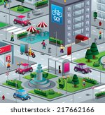 city isometric with building... | Shutterstock .eps vector #217662166