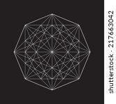 geometric element  line design  ... | Shutterstock .eps vector #217663042