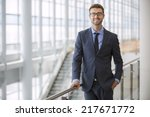 handsome smiling confident... | Shutterstock . vector #217671772