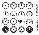 Set Of Speedometers Icons....