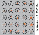 statistic icon circle border | Shutterstock .eps vector #217705576