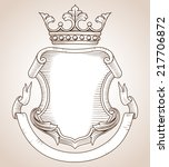 coat of arms    hand drawn ... | Shutterstock .eps vector #217706872