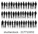 silhouette group of people... | Shutterstock .eps vector #217713352