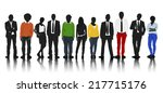 silhouettes group of colorful... | Shutterstock .eps vector #217715176