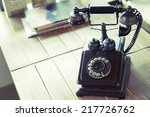 home phone retro style put on... | Shutterstock . vector #217726762