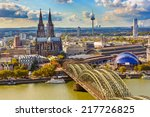 Aerial View Of Cologne  Germany