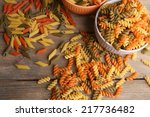 Assortment Of Colorful Pasta I...