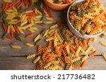 Assortment Of Colorful Pasta I...