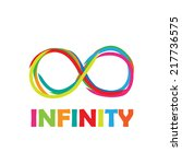 sign infinity. written with... | Shutterstock . vector #217736575