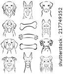 dog   line drawing | Shutterstock .eps vector #217749352