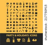 party  holidays  winter... | Shutterstock .eps vector #217750915