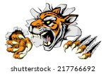 an illustration of a snarling... | Shutterstock .eps vector #217766692